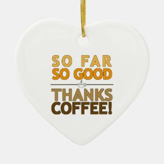 Thanks Coffee Ceramic Ornament
