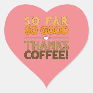 Thanks Coffee Heart Sticker