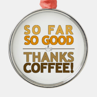Thanks Coffee Metal Ornament