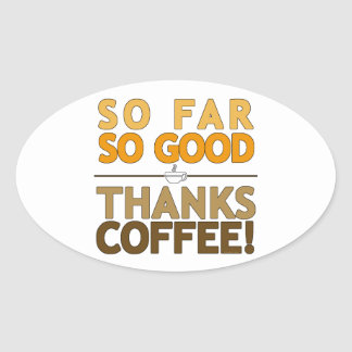 Thanks Coffee Oval Sticker