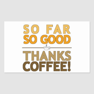 Thanks Coffee Rectangular Sticker
