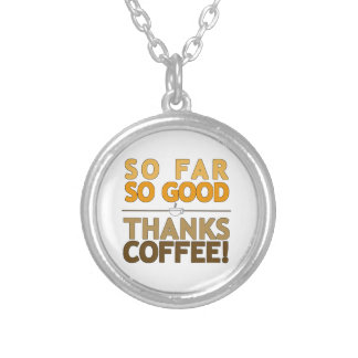 Thanks Coffee Silver Plated Necklace