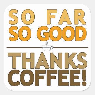 Thanks Coffee Square Sticker