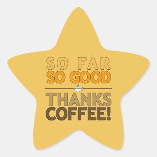 Thanks Coffee Star Sticker
