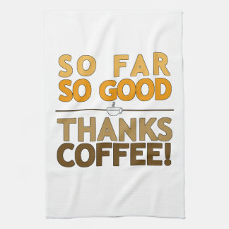 Thanks Coffee Tea Towel