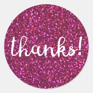 Thanks! Faux pink glitter sticker