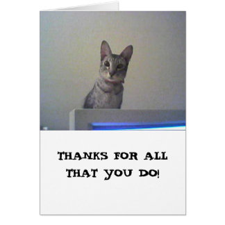 Thanks for all that you do! card