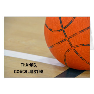 Thanks for Basketball Coach Card