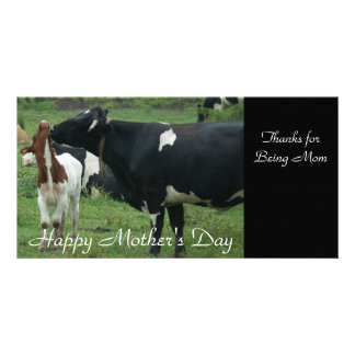 Thanks for Being Mom, Happy Mother's Day Photo Greeting Card