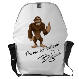 Thanks For Believin' Bigfoot Autograph Courier Bags