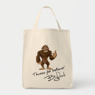 Thanks For Believin' Bigfoot Autograph Grocery Tote Bag