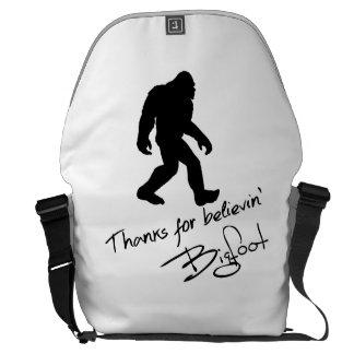 Thanks For Believin Bigfoot Autograph Messenger Bag