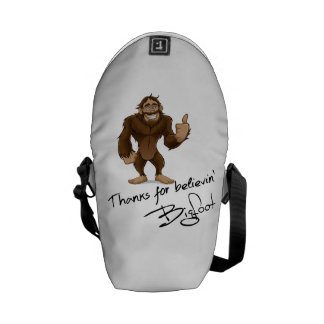 Thanks For Believin' Bigfoot Autograph Messenger Bags