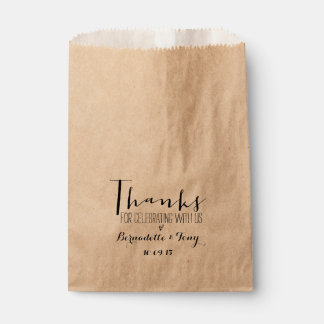 Thanks For Celebrating With Us! Chic Wedding Favor Favour Bag