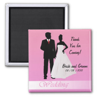 Thanks for Coming!  (Pink) Square Magnet