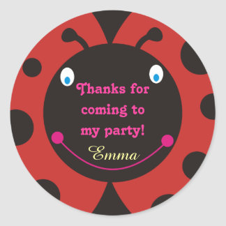 Thanks for coming to my party! Ladybug Stickers