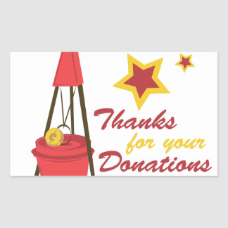 Thanks For Donations Rectangular Sticker