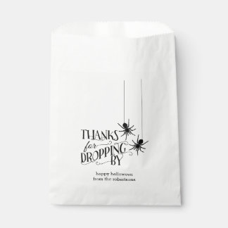 Thanks for Dropping By | Spider Halloween Candy Favour Bag