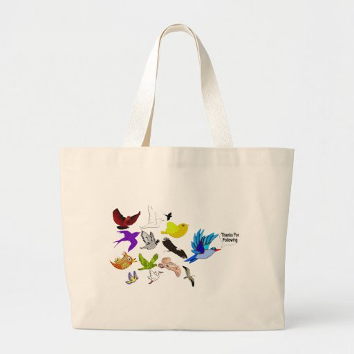 Thanks for Following Canvas Bags