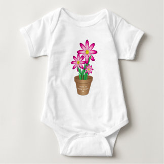 Thanks For Helping Me Grow - Happy Flower Baby Bodysuit