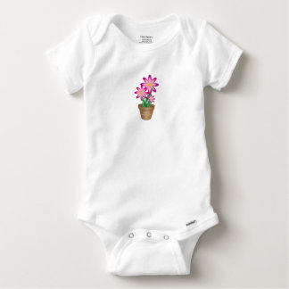 Thanks For Helping Me Grow - Happy Flower Baby Onesie