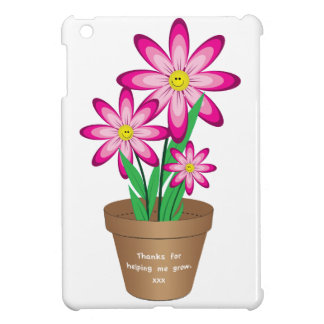 Thanks For Helping Me Grow - Happy Flower iPad Mini Case