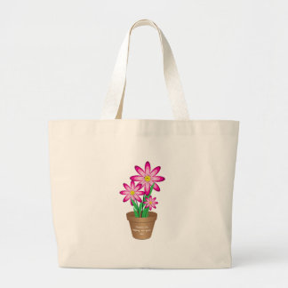 Thanks For Helping Me Grow - Happy Flower Large Tote Bag