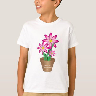 Thanks For Helping Me Grow - Happy Flower T-Shirt