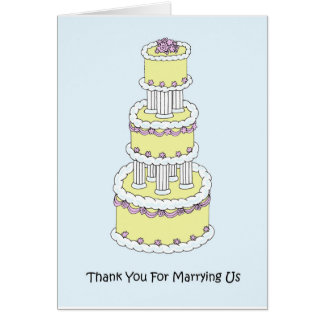 Thanks for marrying us. greeting card