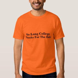 ..Thanks For The Debt Tshirts
