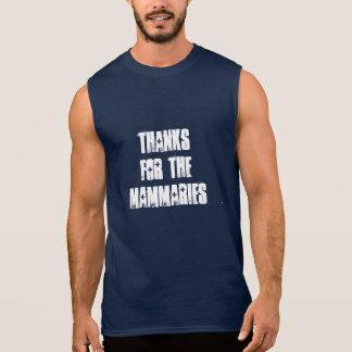 Thanks for the mammaries - navy/white sleeveless shirt