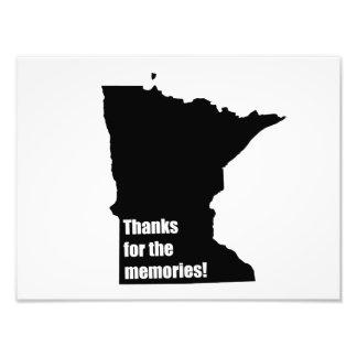 Thanks for the Memories Minnesota Photographic Print