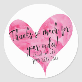 Thanks for Your Order Stickers - Round