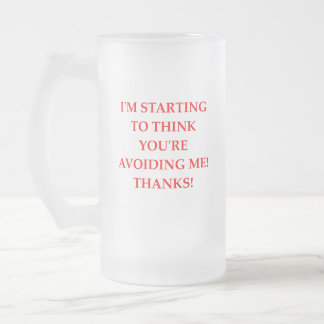 THANKS FROSTED GLASS BEER MUG