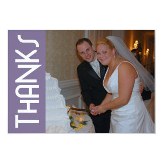 "Thanks Funky Thank You Notecard (Eggplant Purple) 3.5"" X 5"" Invitation Card"