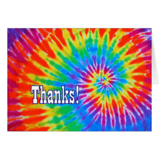 Thanks Groovy Tie-Dye Card
