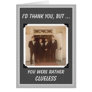 Thanks Guys Wedding Thanks - FUNNY Greeting Card