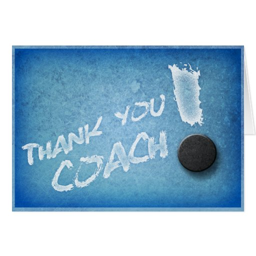 Thanks Hockey Coach Card Icy Blue Style