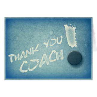 Thanks Hockey Coach Card Vintage Style