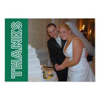 Thanks In Lights Thank You Notecard (Green)