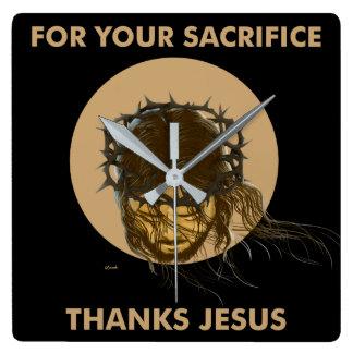 THANKS JESUS CLOCK