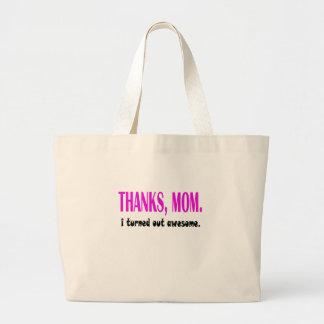 thanks mom jumbo tote bag