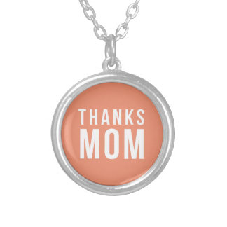 thanks-mom silver plated necklace