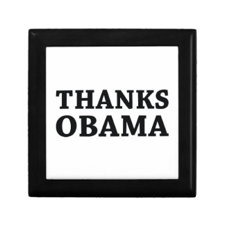 Thanks Obama Small Square Gift Box