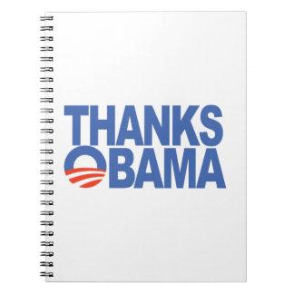 Thanks Obama Spiral Notebooks