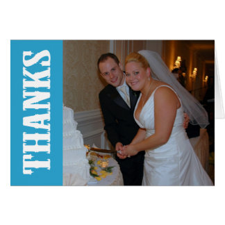 Thanks Shoot Out Thank You Notecard (Blue) Note Card