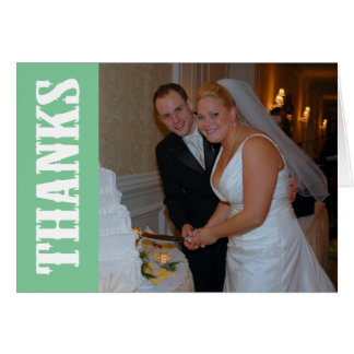 Thanks Shoot Out Thank You Notecard (Mint Green) Note Card