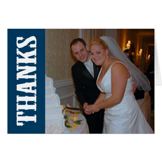 Thanks Shoot Out Thank You Notecard (Navy Blue)