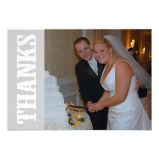 Thanks Shoot Out Thank You Notecard (Silver Gray) Personalized Invites
