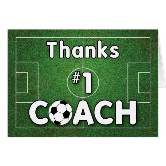 Thanks Soccer Coach Grass Field Card